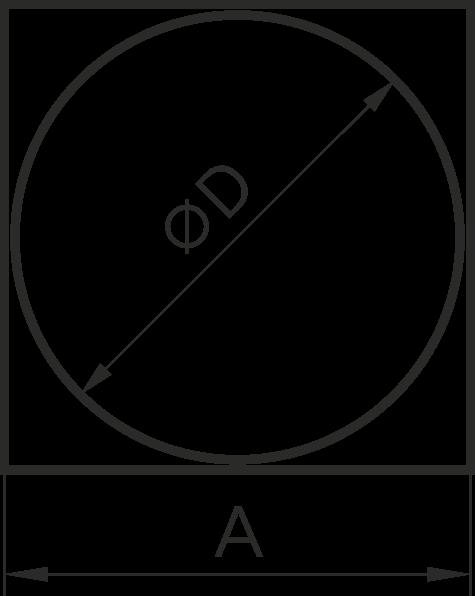 09КВ, Эра. Соединитель квадрата 90х90 с круглым воздуховодом пластик D100