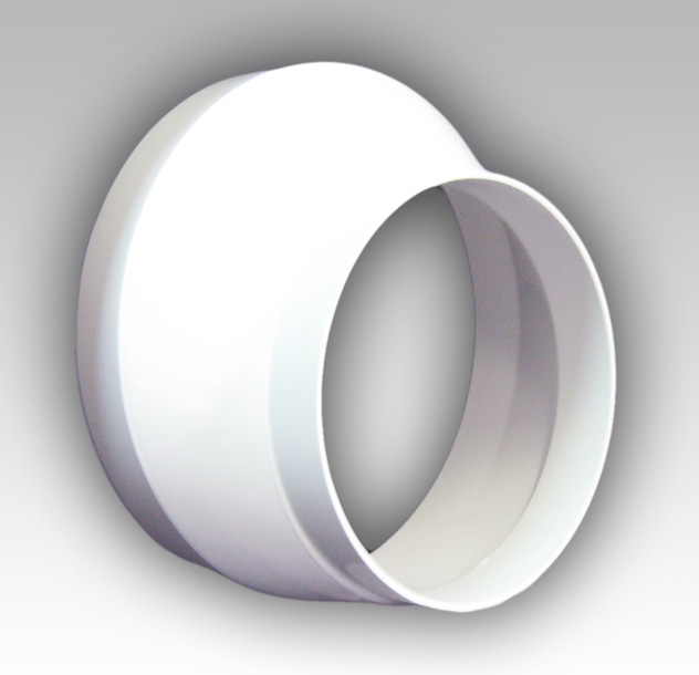 12,516РЭП Эра. Соединитель эксцентриковый круглого воздуховода с круглым пластик D125/160