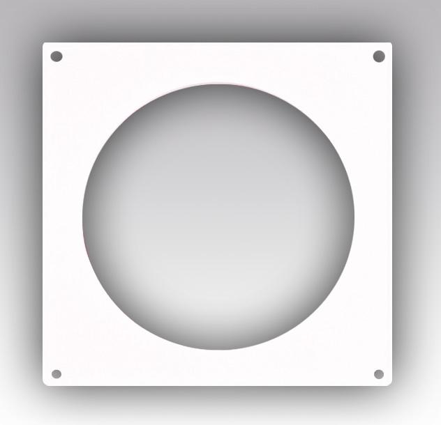 12,5НКП Эра. Накладка торцевая пластик 170х170, для воздуховода D125