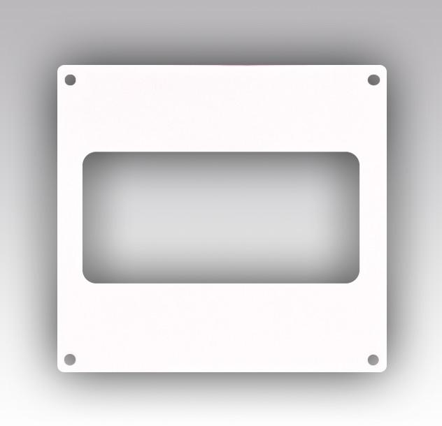 612НПП Эра, Накладка торцевая пластик 150х150, для воздуховода 60х120