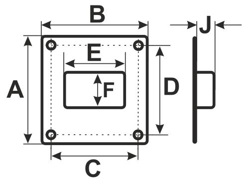 612ПТВ Эра, Площадка торцевая вертикальная пластиковая 180х250 фланец 60х120