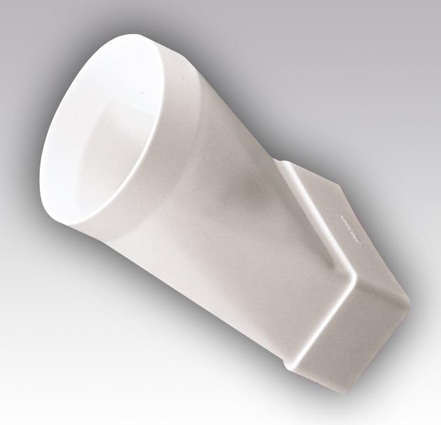 612СП10КП Эра, Соединитель эксцентриковый плоского воздуховода с круглым пластик, 60х120/D100
