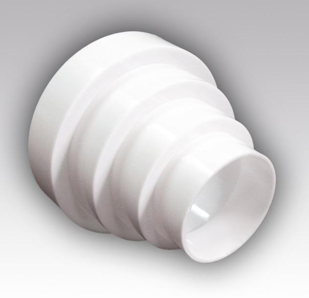 PU16.15.12,5.12.10.8 Эра. Соединитель круглых воздух-в центральный пластик D160/150/125/120/100/80