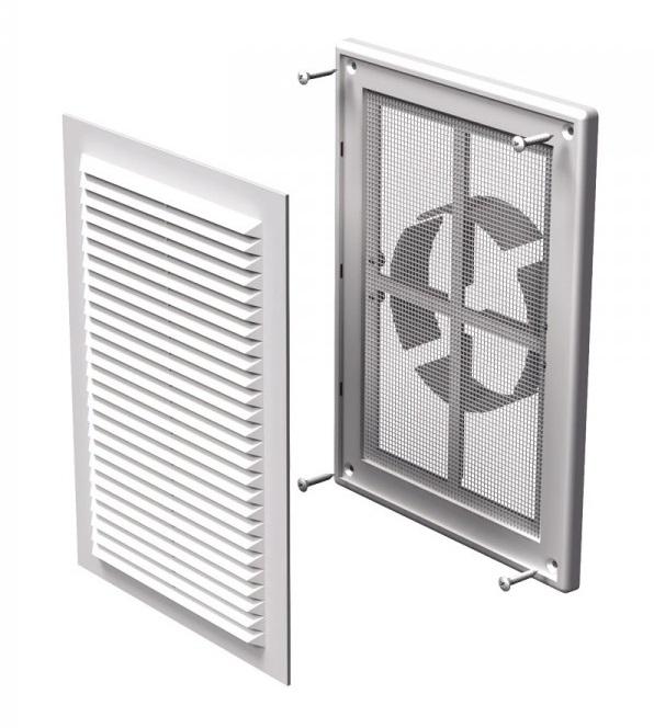 Вентс. Решетка вентиляционная МВ 125 ВДс (с рамкой изм.диаметром)