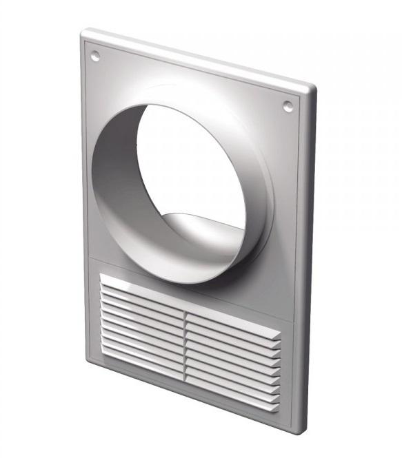 Вентс. Решетка вентиляционная МВ 125 КВс АБС