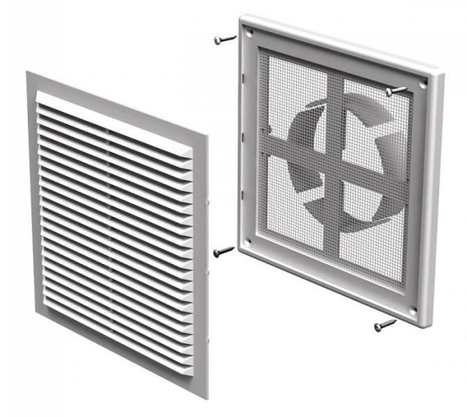 Вентс. Решетка вентиляционная МВ 150 ВДс (с рамкой и изм.диаметром)