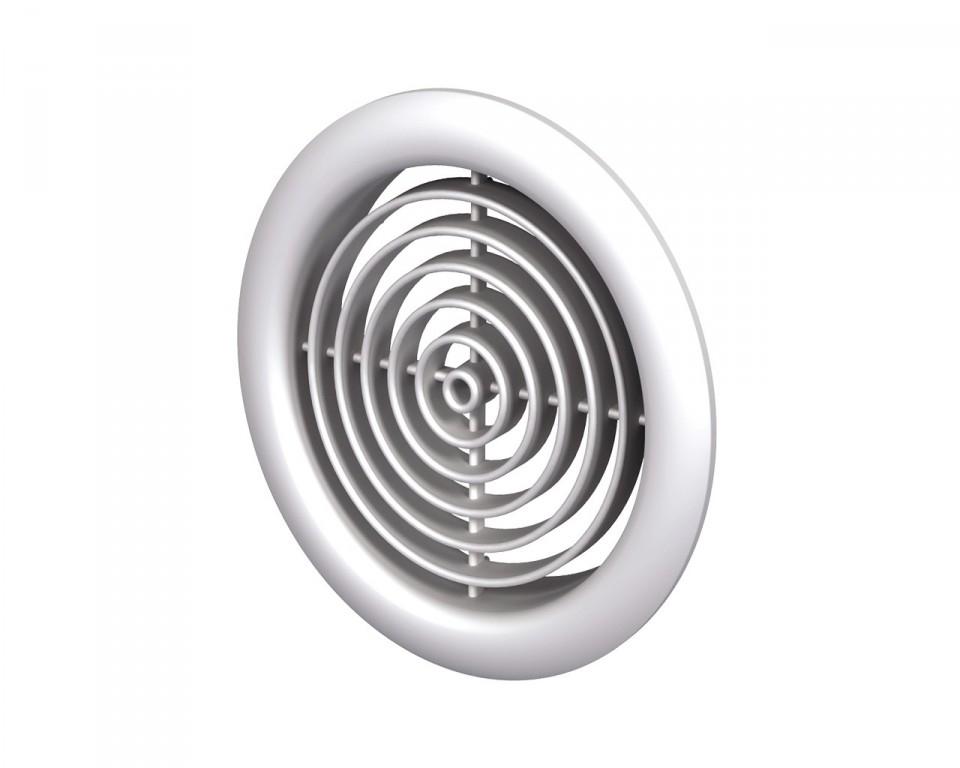 Вентс. Решетка вентиляционная МВ 51/2 бВс белый ABS