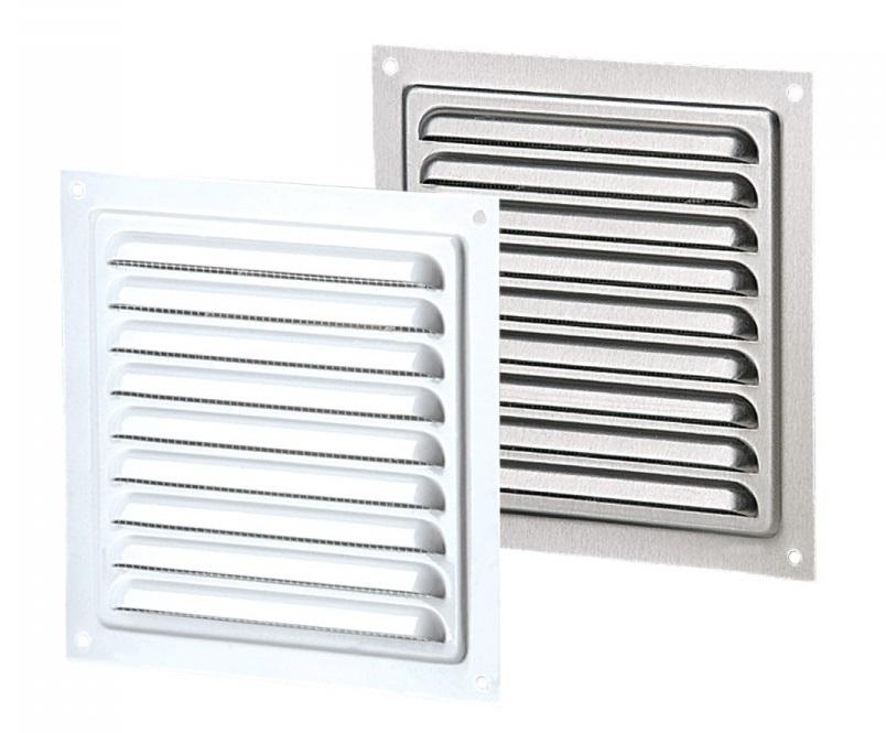 Вентс. Решетка вентиляционная металлическая МВМ 150с (серый)