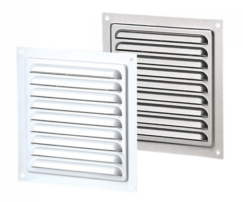 Вентс. Решетка вентиляционная металлическая МВМ 200с (серый)