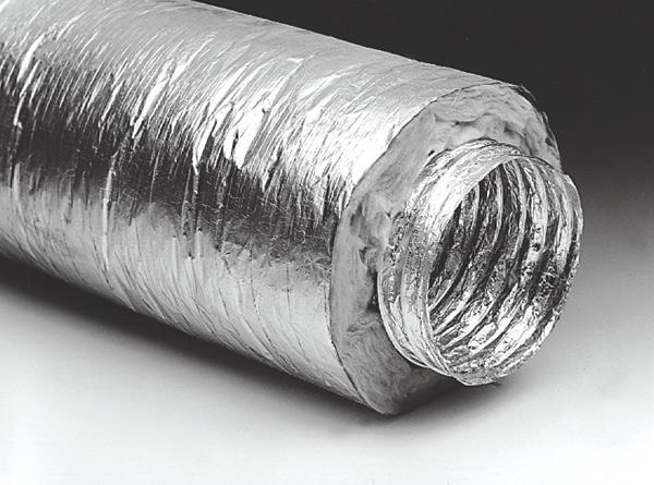 Изо AF102 Воздуховод изолированный армированный, 102мм/10м