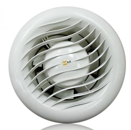 Вентилятор MM-S 120/OK накладной высокотемпературный для саун, обратный клапан