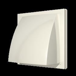 1515К10ФВ Ivory Эра. Выход стенной вытяжной с обр. клапаном 150х150 с фланцем D100, Ivory ASA-пласт