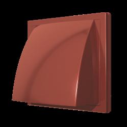 1515К10ФВ терр Эра. Выход стенной вытяжной с обр. клапаном 150х150 с фланцем D100, терр, ASA-пласт