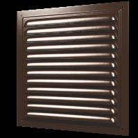1515МЭ кор Эра. Решетка вентиляционная стальная, эмаль 150х150 коричневая