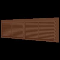 4513РП кор. Эра. Решетка переточная (коричневый)