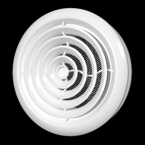 20ДК Эра. Диффузор приточно-вытяжной со стопорным кольцом и фланцем D200