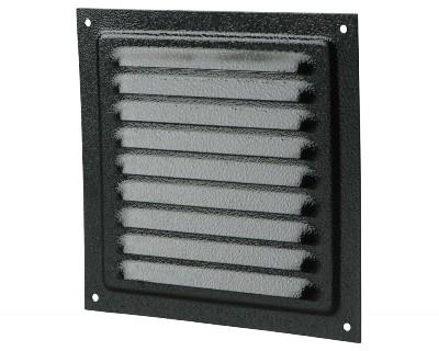Вентс. Решетка вентиляционная металлическая МВМ 150с (черный)