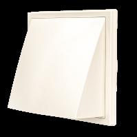 1515К12,5ФВ Ivory, Выход стенной вытяжной с обратным клапаном 150х150 с фланцем D125, ASA