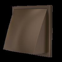 1515К12,5ФВ кор, Выход стенной вытяжной с обратным клапаном 150х150 с фланцем D125, ASA. кор