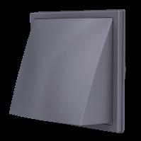 1919К15.16ФВ сер, Выход стенной вытяжной с обратным клапаном 190х190 с фланцем D150/160, ASA, сер
