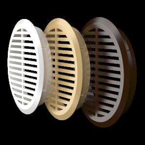 05ДП 1/4 кор, ЭРА Решетка переточная круглая D50 с фланцем D45, 4 шт. коричневая