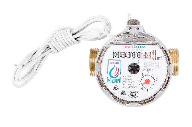 Счетчик воды универсальный ЭКО НОМ-15-80И (импульсн.выход) без КМЧ