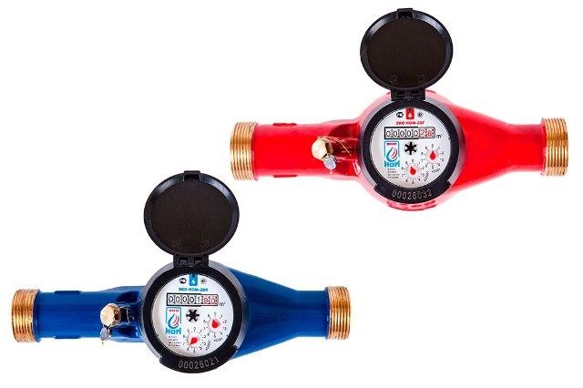 Счетчик воды универсальный ЭКО НОМ-СВДМ-32Г (латунь) +КМЧ