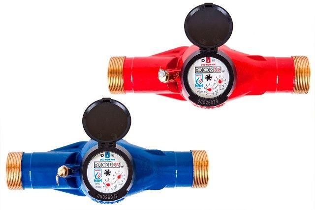 Счетчик воды универсальный ЭКО НОМ-СВДМ-40Г (латунь) +КМЧ