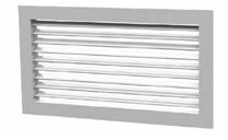 Решетка с фиксированными жалюзи ДВ-Р1-0° с КРВ 150x100