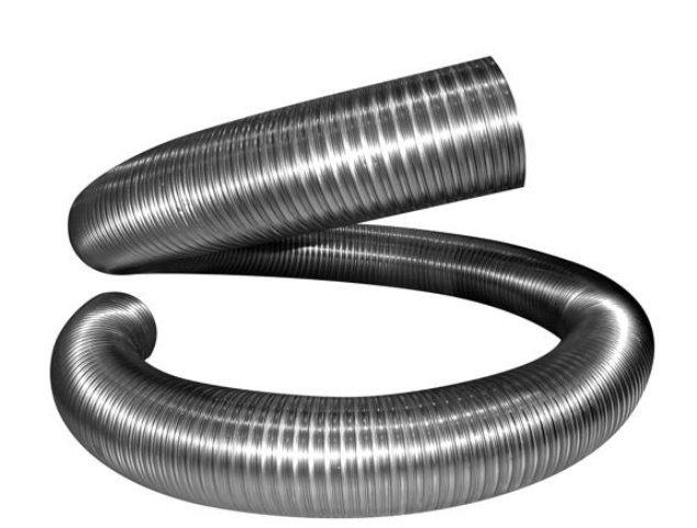 Газоход (воздуховод) спирально-навивной из нержавеющей стали, D130, L до 1 м