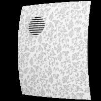 PARUS 4C white design Эра. Вентилятор осевой вытяжной с обр. клап. D 100, декоративный