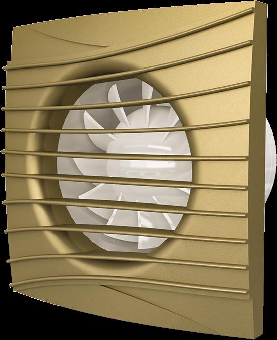 SILENT 4C champagne, Вентилятор осевой вытяжной с обратным клапаном D 100, декоративный