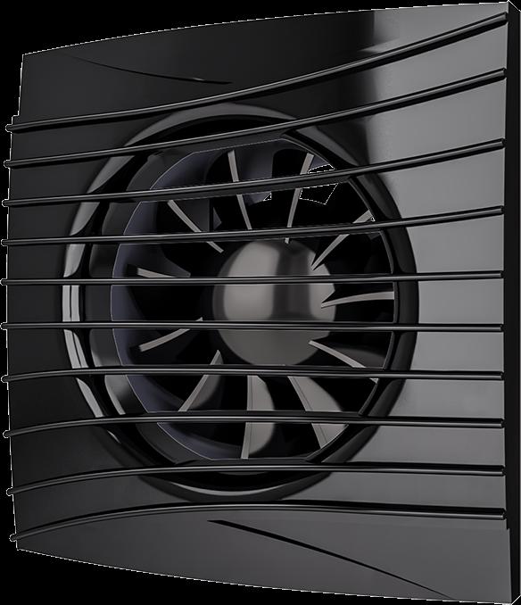 SILENT 4C Оbsidian, Вентилятор осевой вытяжной с обратным клапаном D 100, декоративный