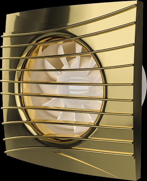 SILENT 5C Gold, Вентилятор осевой вытяжной с обратным клапаном D 125, декоративный