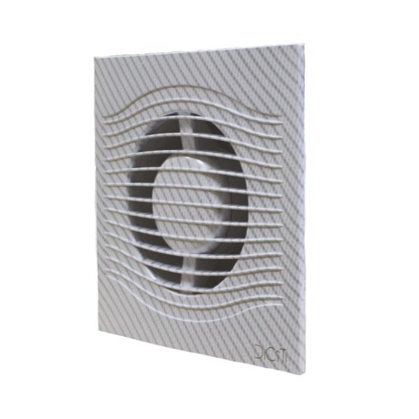 SLIM 5C white carbon Эра. Вентилятор осевой вытяжной с обр. клап. D 125, декоративный