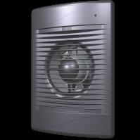 STANDARD 4C dark gray metal Эра, Вентилятор осевой вытяжной с обратным клапаном D 100, декоративный